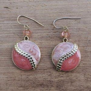 Kenneth Cole Glitter Swirl Dangle Earrings